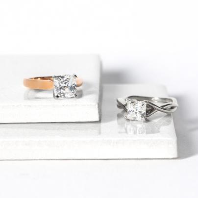 Cushion Cut vs Princess Cut Diamonds