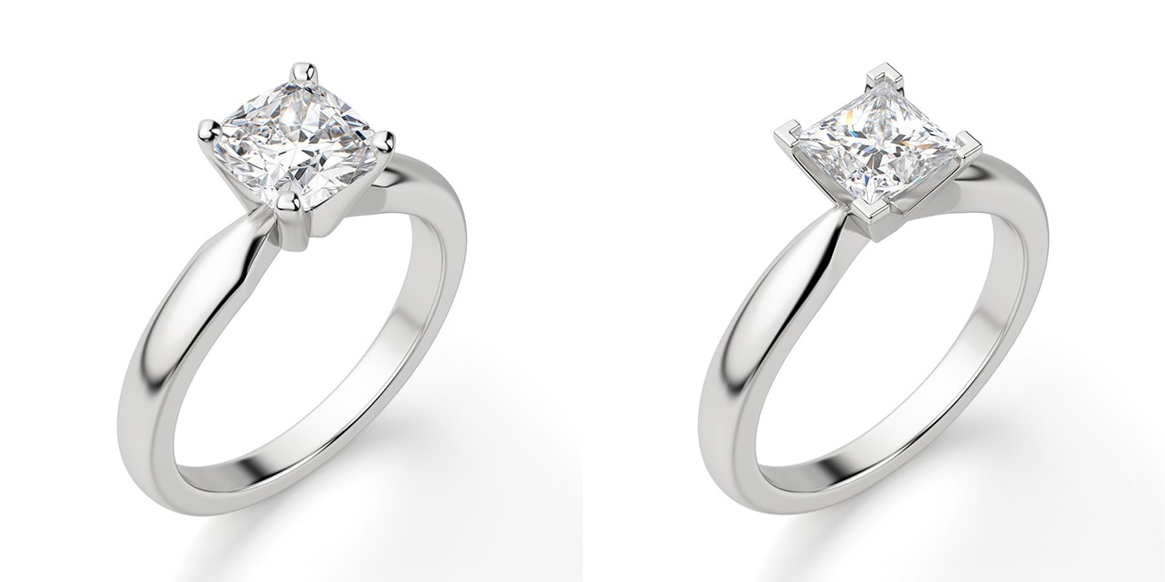 A solitaire engagement ring setting
