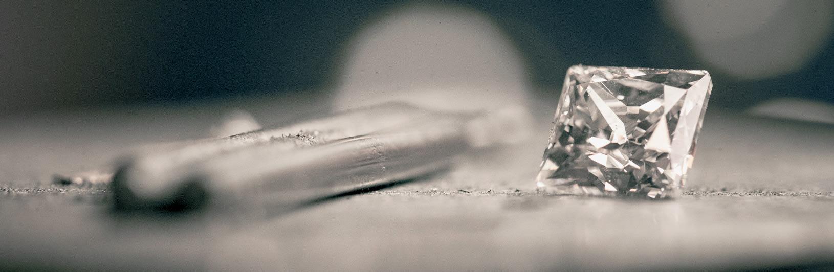 Princess cut lab grown diamond