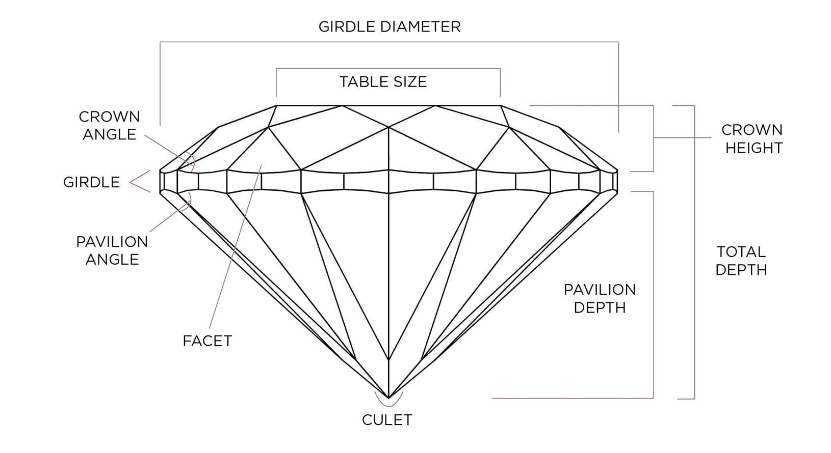 Diamond anatomy diagram
