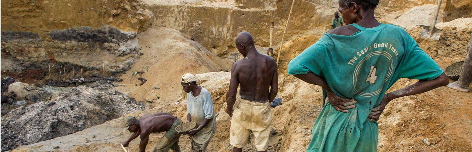 Alluvial mining in Africa