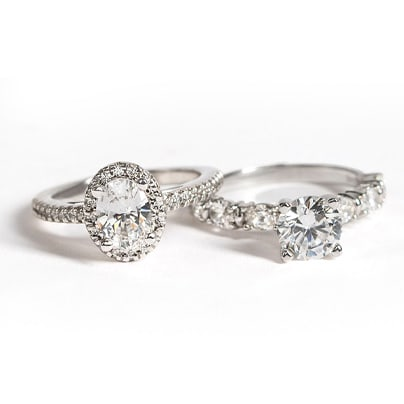 High Setting vs Low Setting Engagement Rings