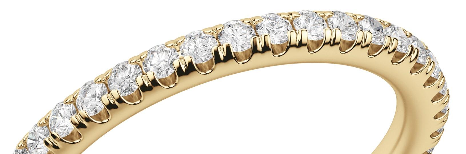 U-cut pave diamonds