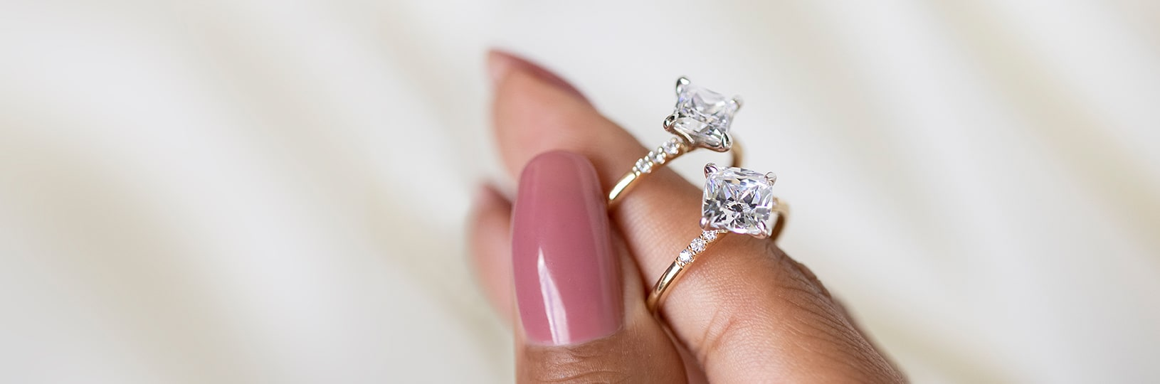 Two accented engagement rings