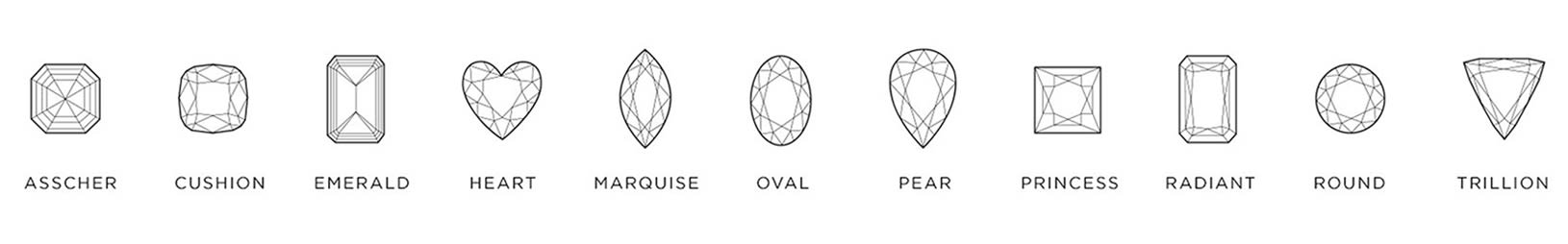 The different diamond shapes