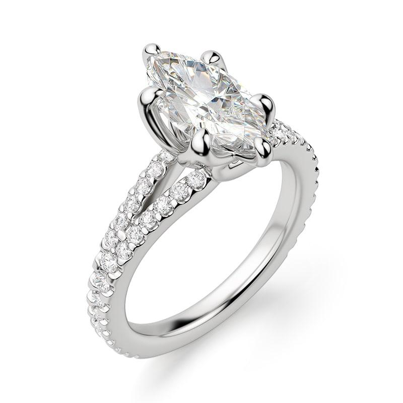 A split shank engagement ring