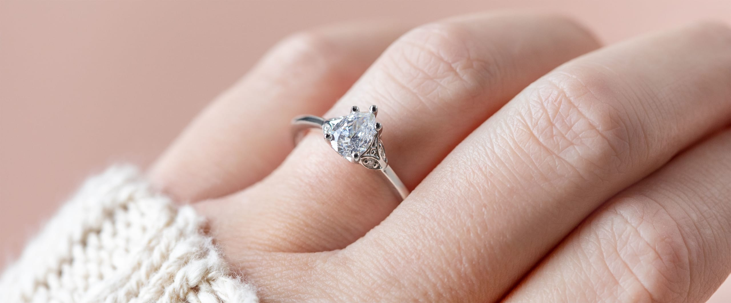 A floral-inspired engagement ring