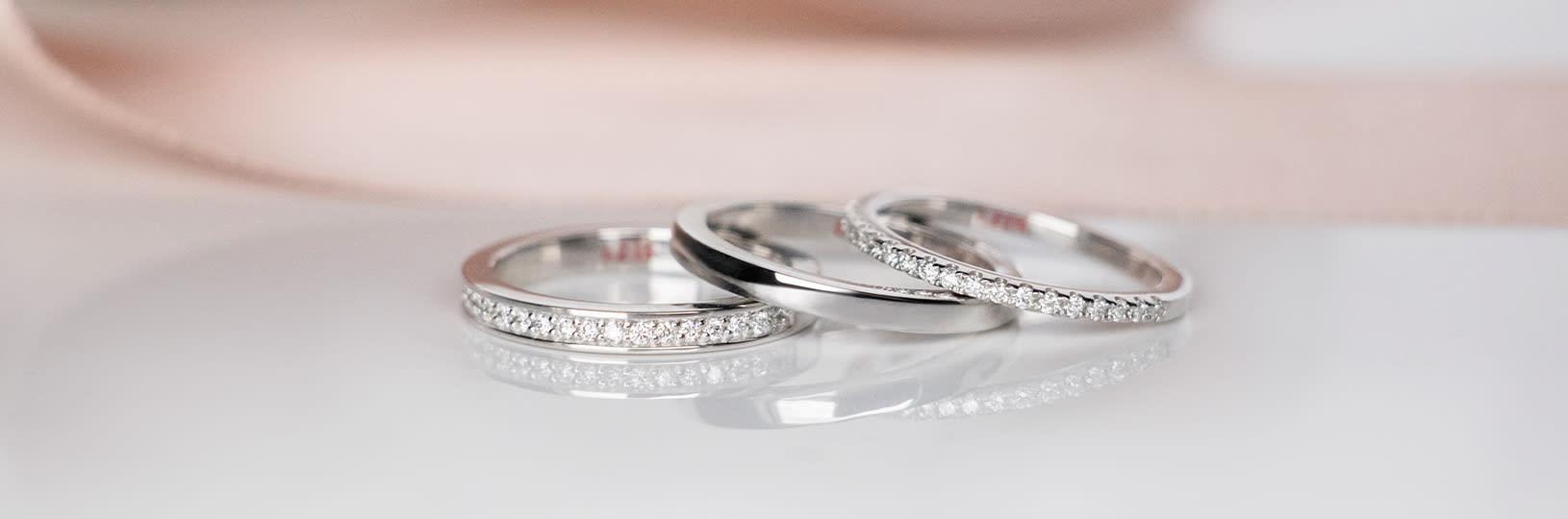 Three wedding bands