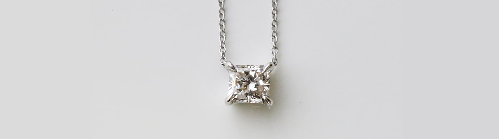 A stylish princess cut necklace