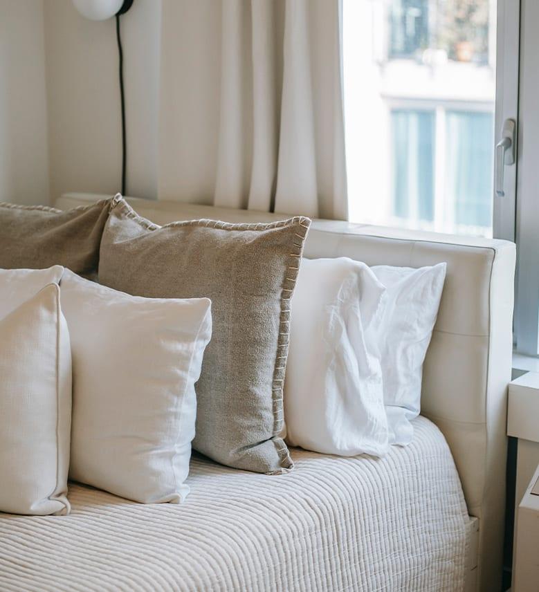 Image of linen pillows