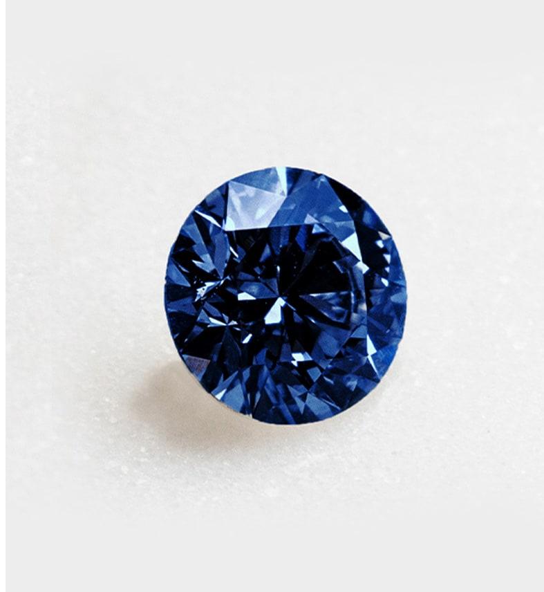 A bright sapphire stone
