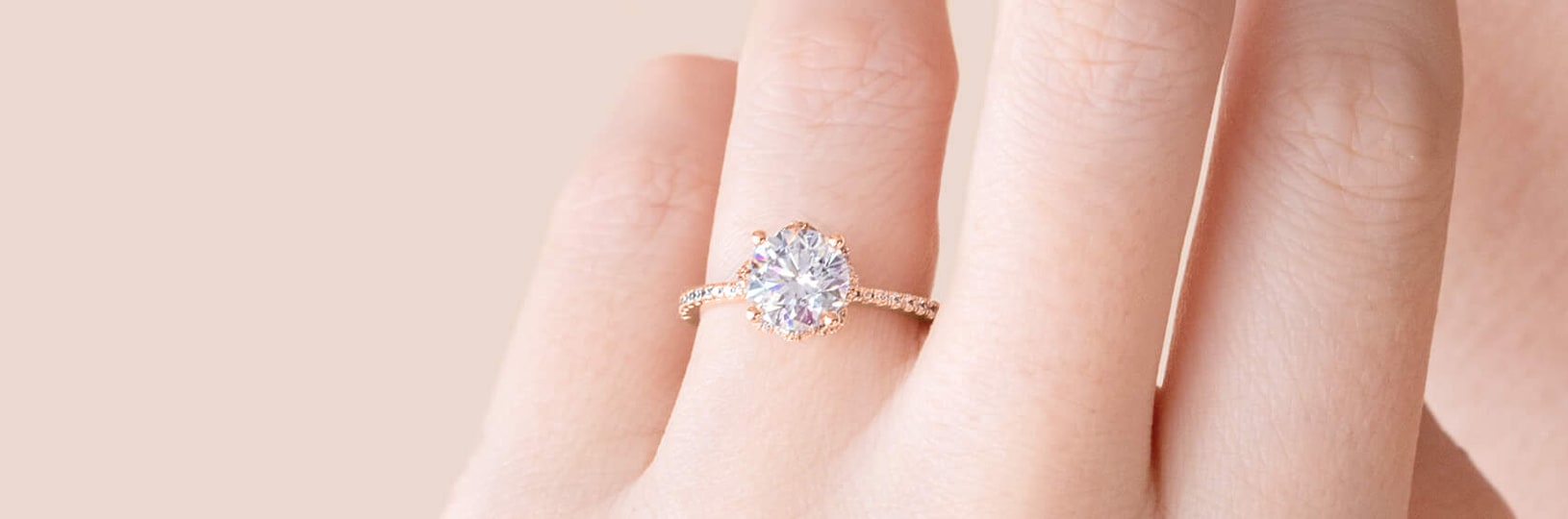 An oval cut diamond simulant engagement ring