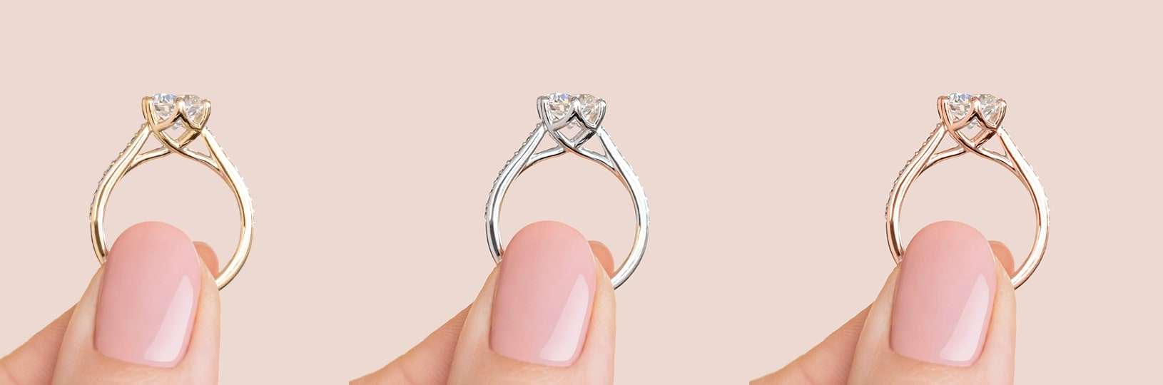 Different engagement ring metal types