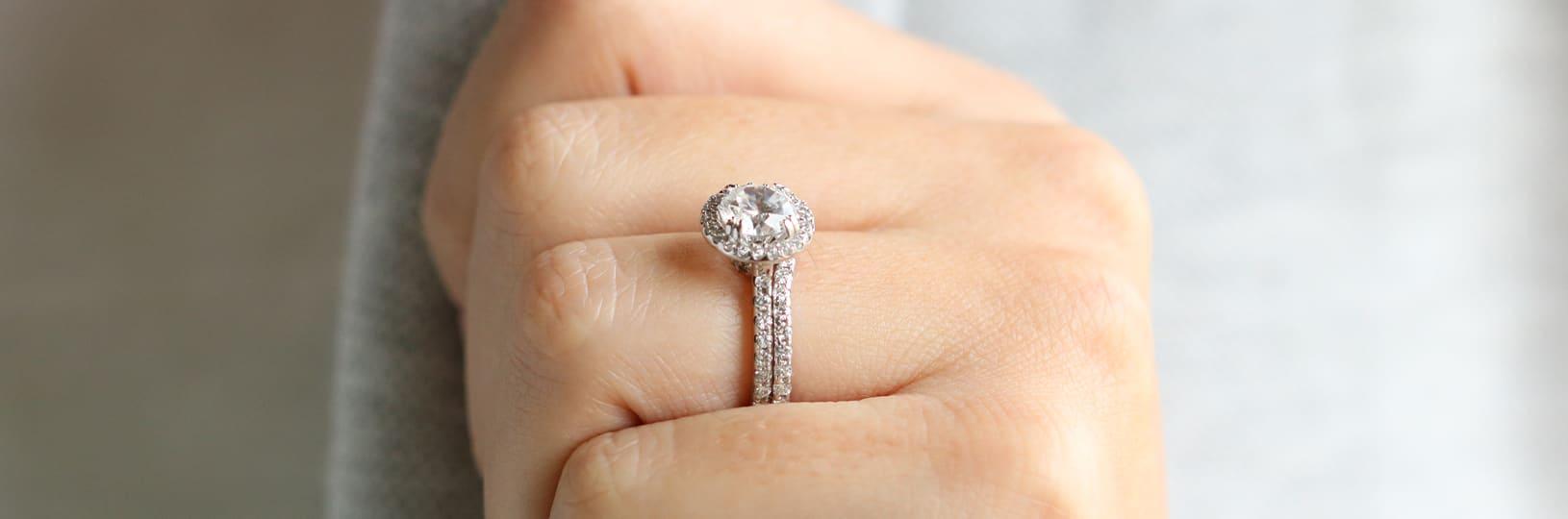 Lab diamond engagement ring